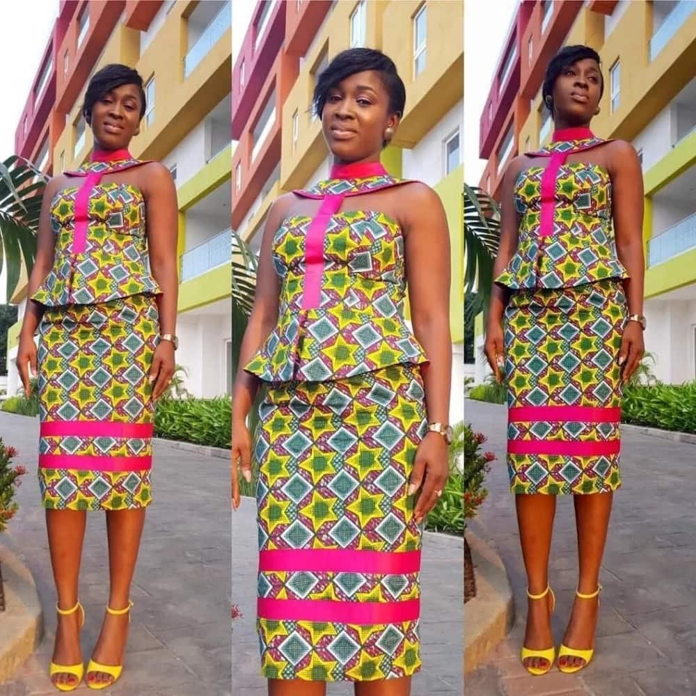 e6d22a3d5c98cb Ankara style for skirt and blouse with open shoulders