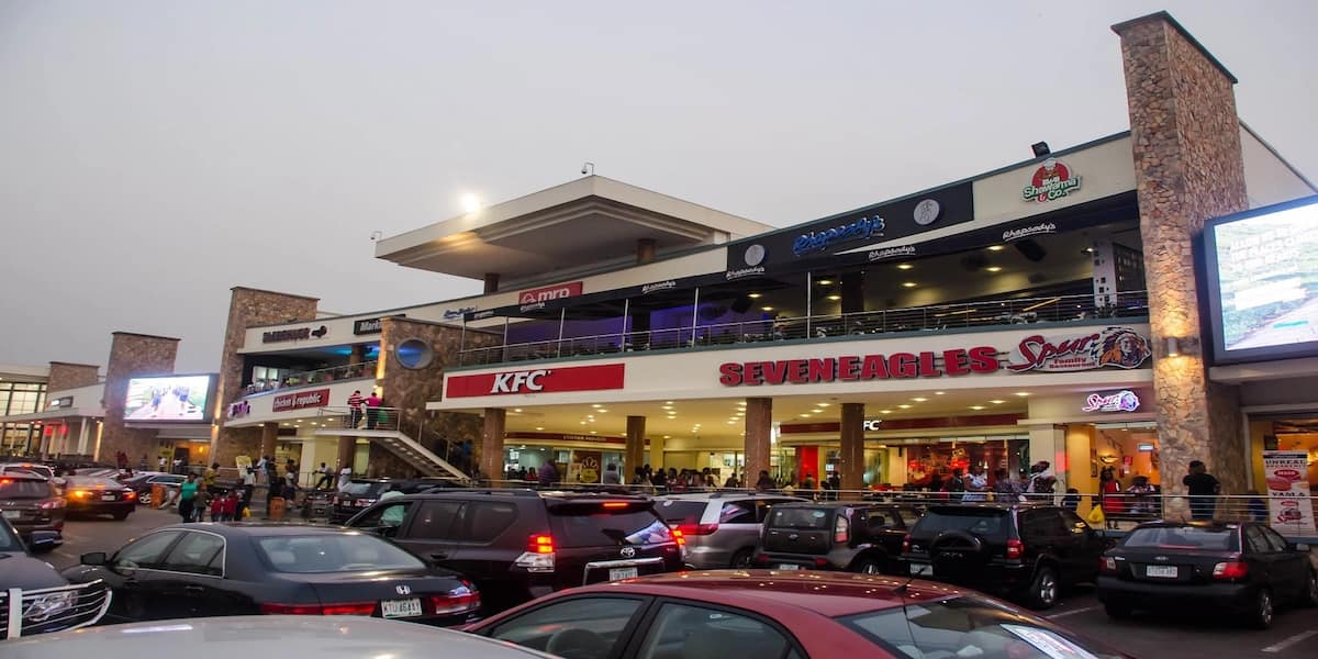 Ikeja City Mall in the evening
