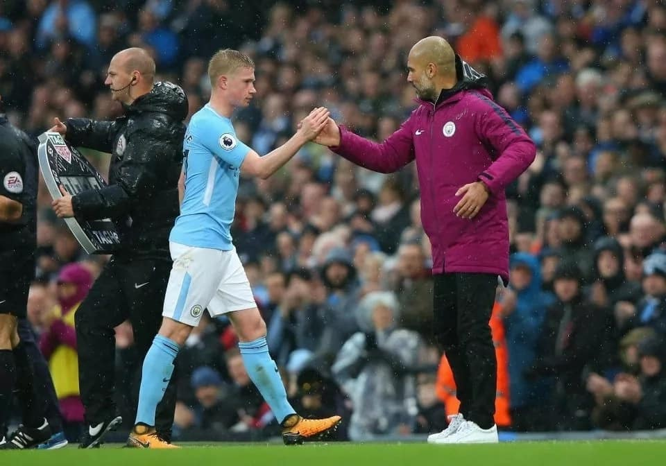 City boss Pep Guardiola says Kevin De Bruyne's release clause is £223m