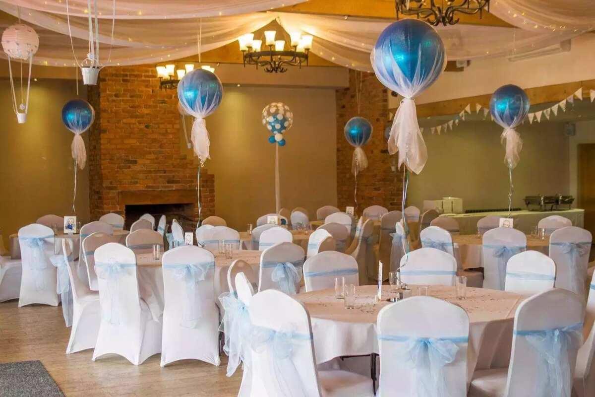 A decoration of a wedding hall