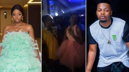 Olamide Baddo spotted hanging out with Bambam at a club, she rocked a pink dress (photos)