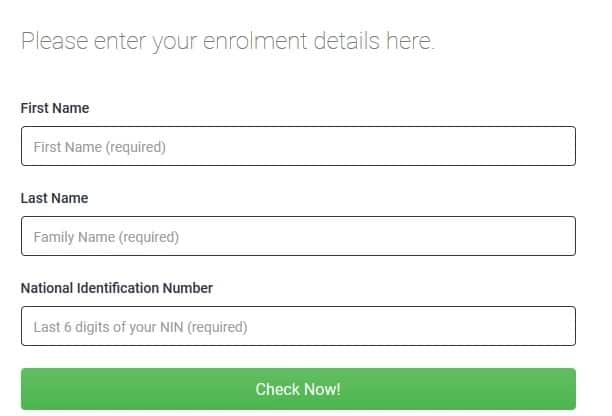 How to use NIMC tracking ID
