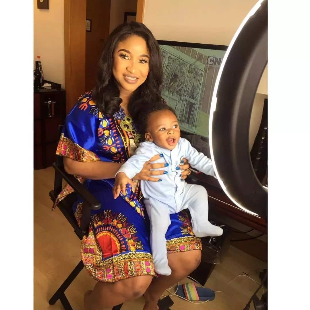 Tonto Dikeh with little son