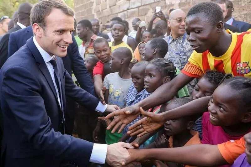 President of France and children