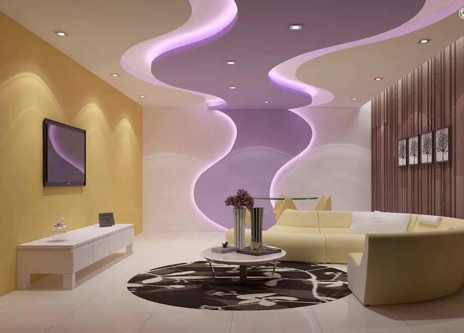 Best POP designs for living room in Nigeria - Futuristic design
