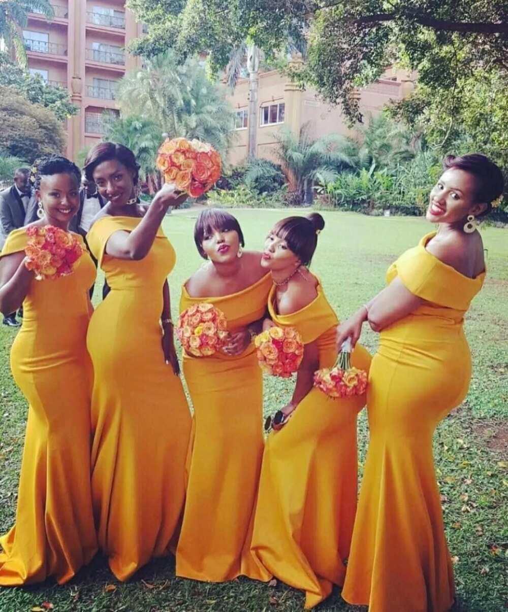 Orange for wedding ceremony