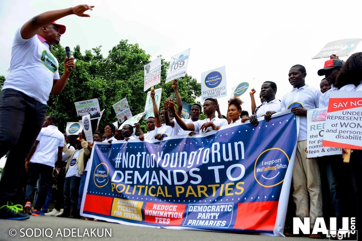 Not Too Young To Run movement demands reduction in nomination fees for young aspirants