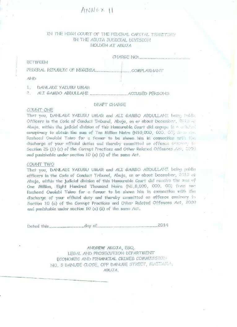 Controversial evidences emerge against Danladi Umar