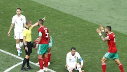 Drama as Morocco's midfielder accuses referee of 'asking for Ronaldo's shirt'