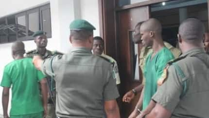 Breaking: Port Harcourt undergraduate Ifeanyi Dike who allegedly killed 8-year-old girl for ritual appears in court, collapses during trials (photos)
