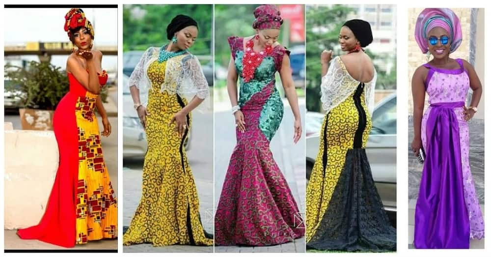 Latest Ankara long gown styles 2017 - bright combinations