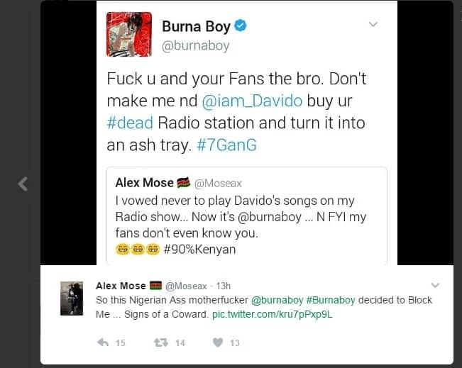 Burna Boy Twitter