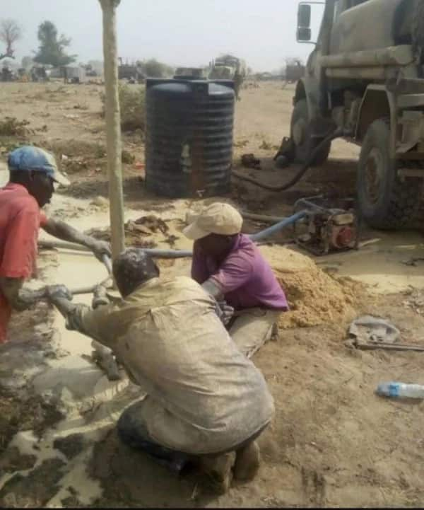 Nigerian army embark on water project inside Sambisa forest