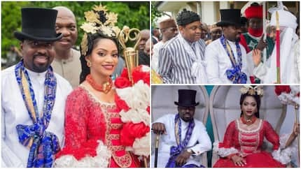 Completely beautiful photos from traditional wedding of former governor's daughter Xerona Duke and beau DJ Caise
