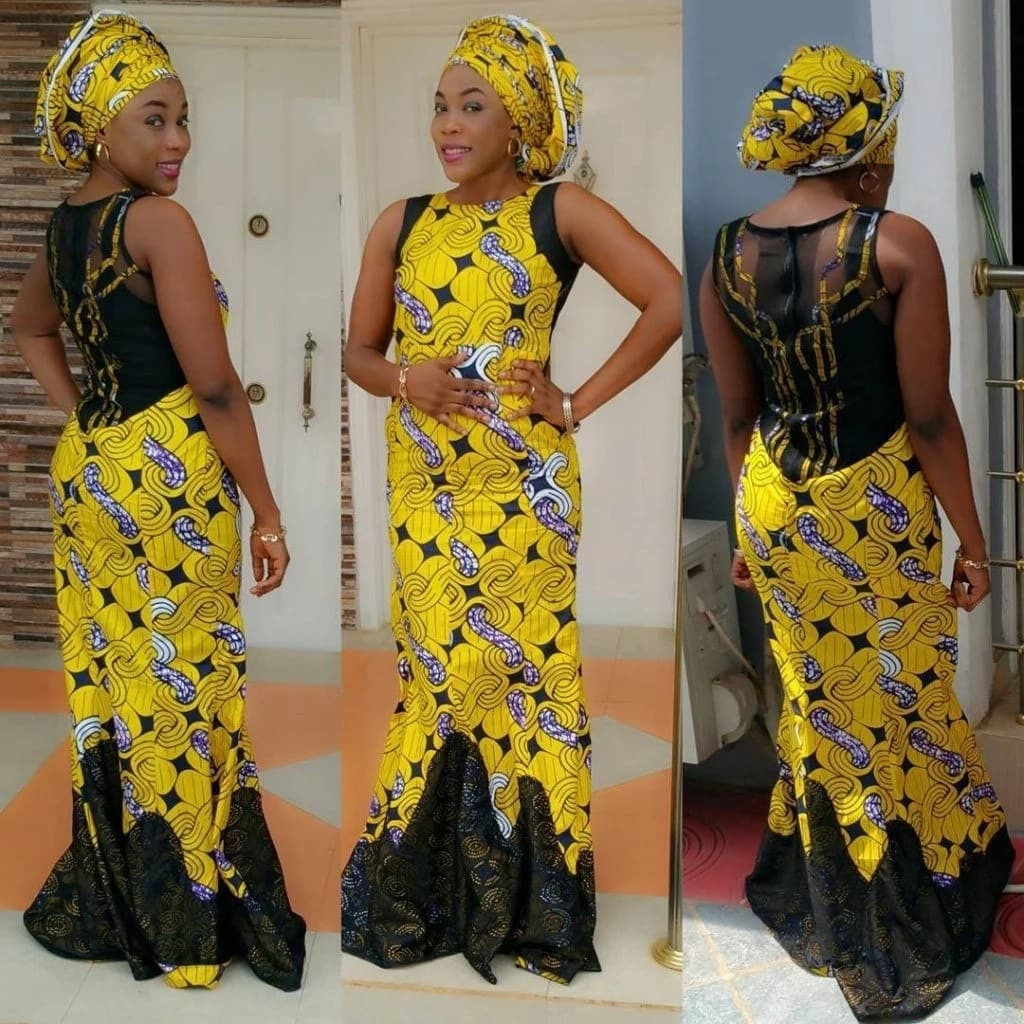 Latest Ankara long gown - just gorgeous