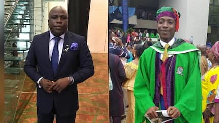 Proud father! Gbenga Adeyinka takes to social media to celebrate son who just graduated from university