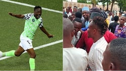 Super Eagles star player mobbed by excited fans in Abuja central mosque