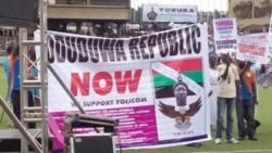 Yoruba groups takes agitation to southwest governors, demand for Oduduwa Republic (photos)