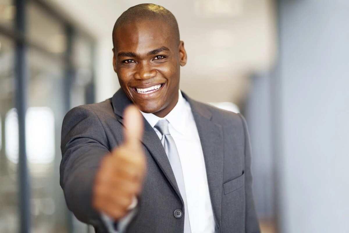 Happy man thumb up