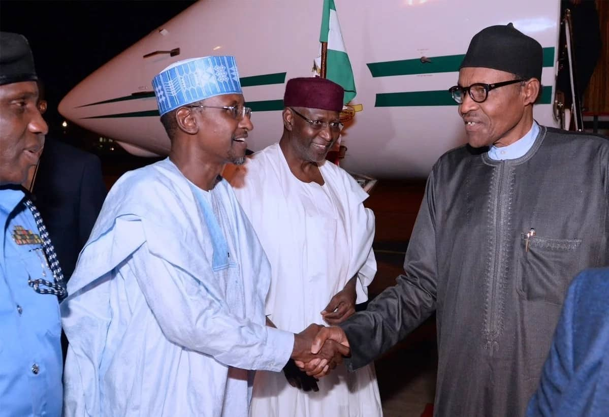 Breaking: Buhari lands in Abuja after visit to Trump, technical stop-over in London