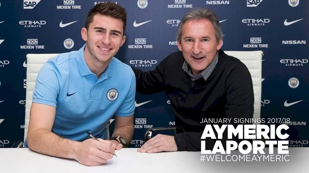 Manchester City sign French defender, Aymeric Laporte, from Athletic Bilbao