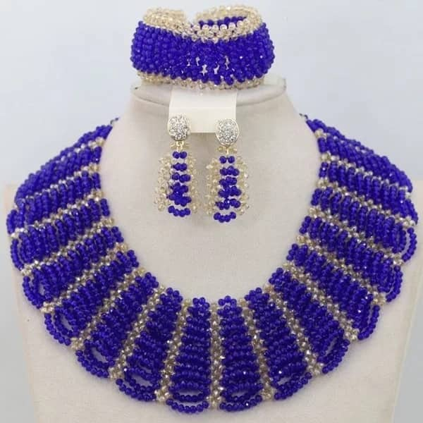 Dark blue beads