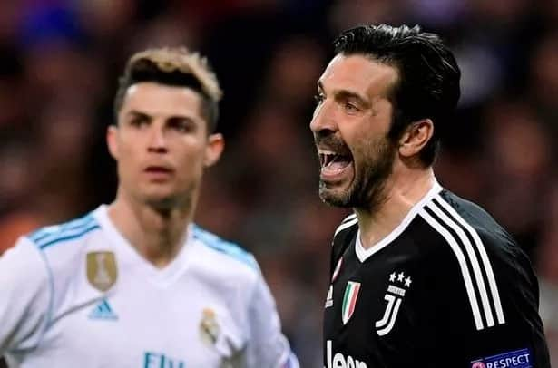 What Cristiano Ronaldo was seen doing before scoring penalty against Juventus