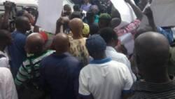 Masu zanga zanga sun hana sabuwar ministar kudi shiga Ofis a Abuja (Hoto)