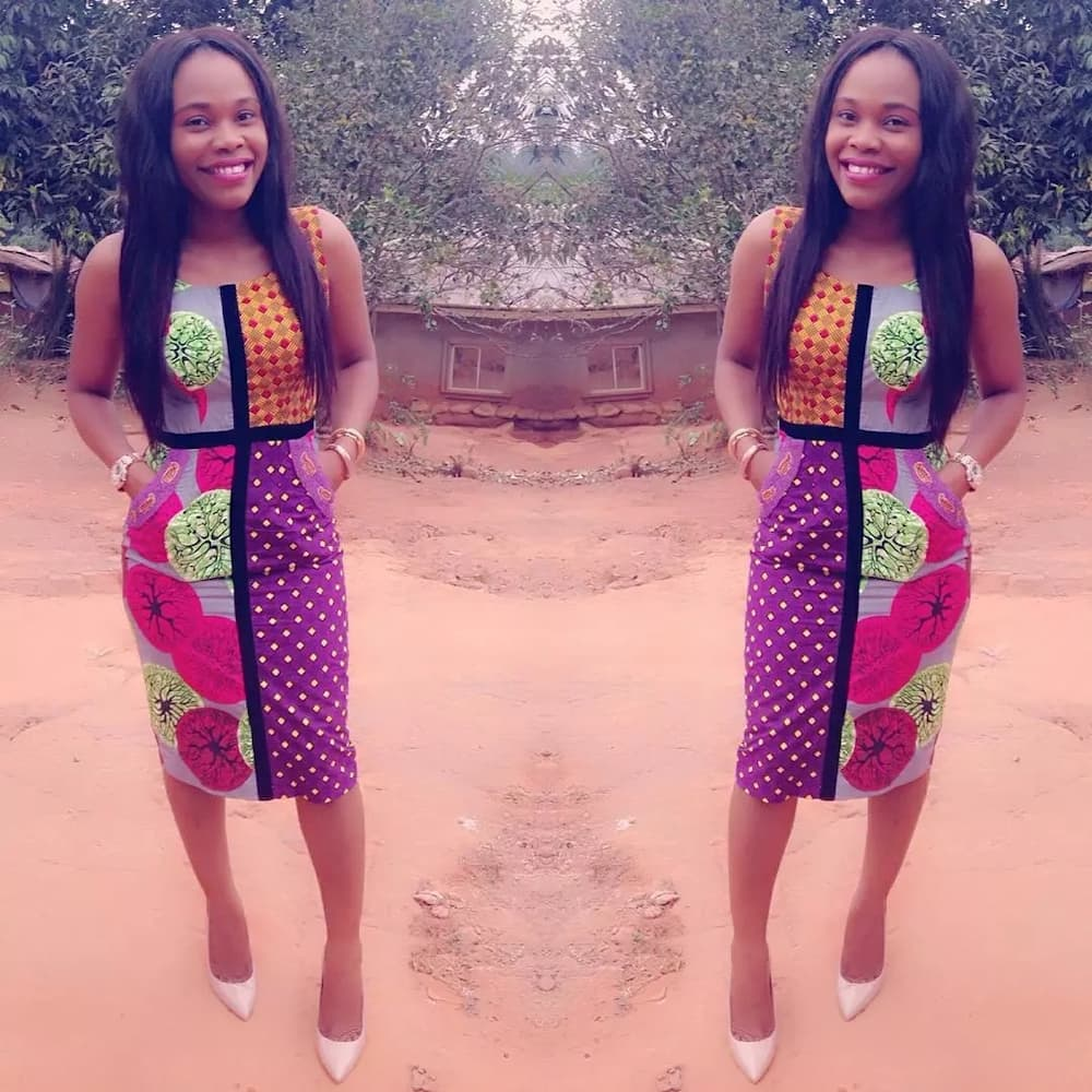 Ankara straight gowns with pockets