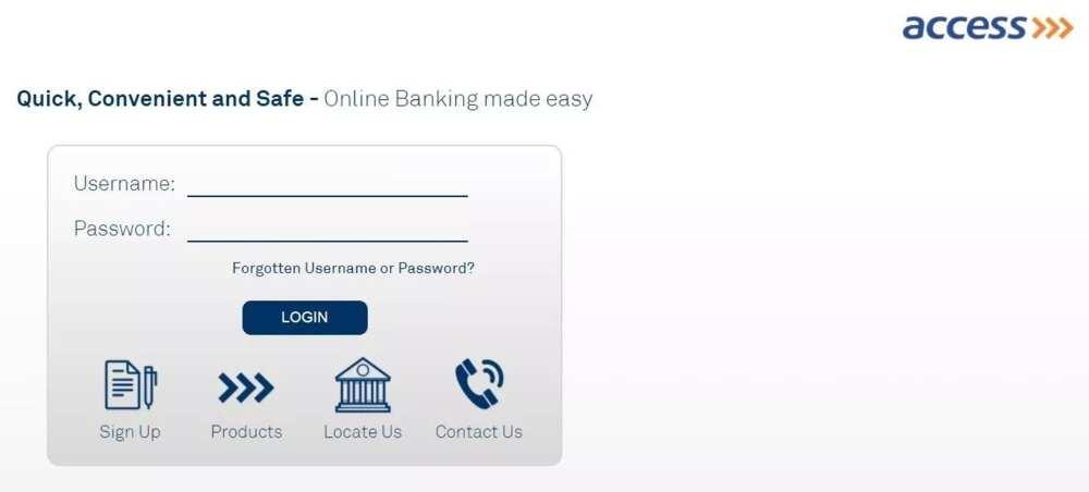 Access Bank online account balance check login