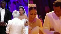 Beautiful photos from the white wedding ceremony of Sharon Oyakhilome and Philip Frimpong