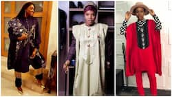 9 female celebrities looking gorgeous in beautiful agbada outfits (photos)