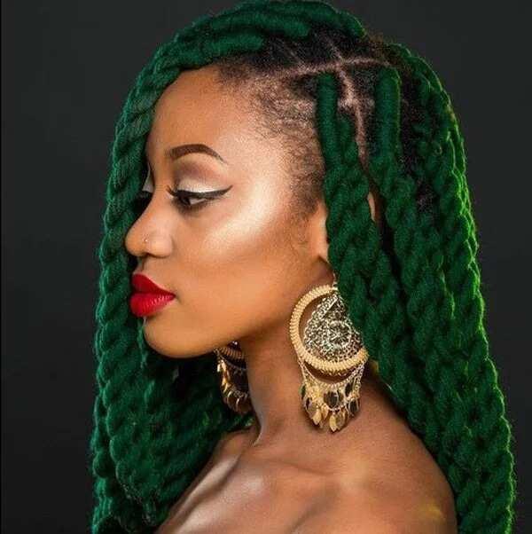 Yarn twist braids