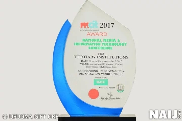 Legit.ng wins award as most outstanding ICT-driven media in Nigeria at 2017 MCIT Conference for Tertiary Institutions