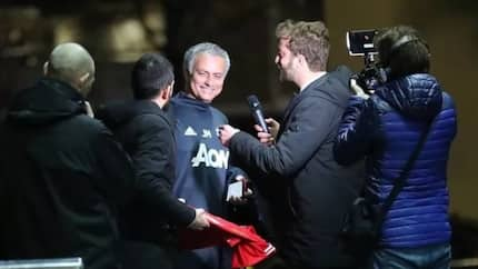 Jose Mourinho tricked into signing Man Utd jersey with Antonio Conte's name on it and his reaction is priceless