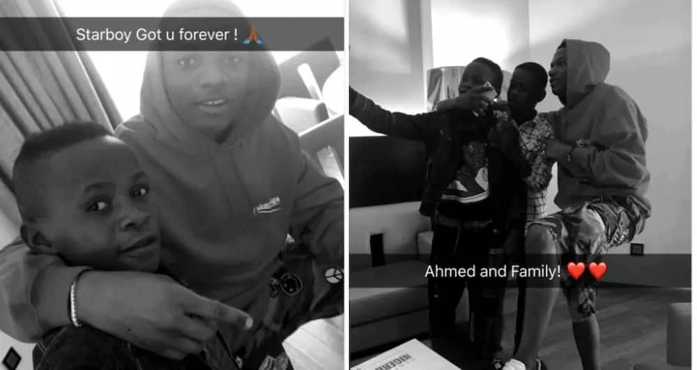 Wizkid and Ahmed on snapchat