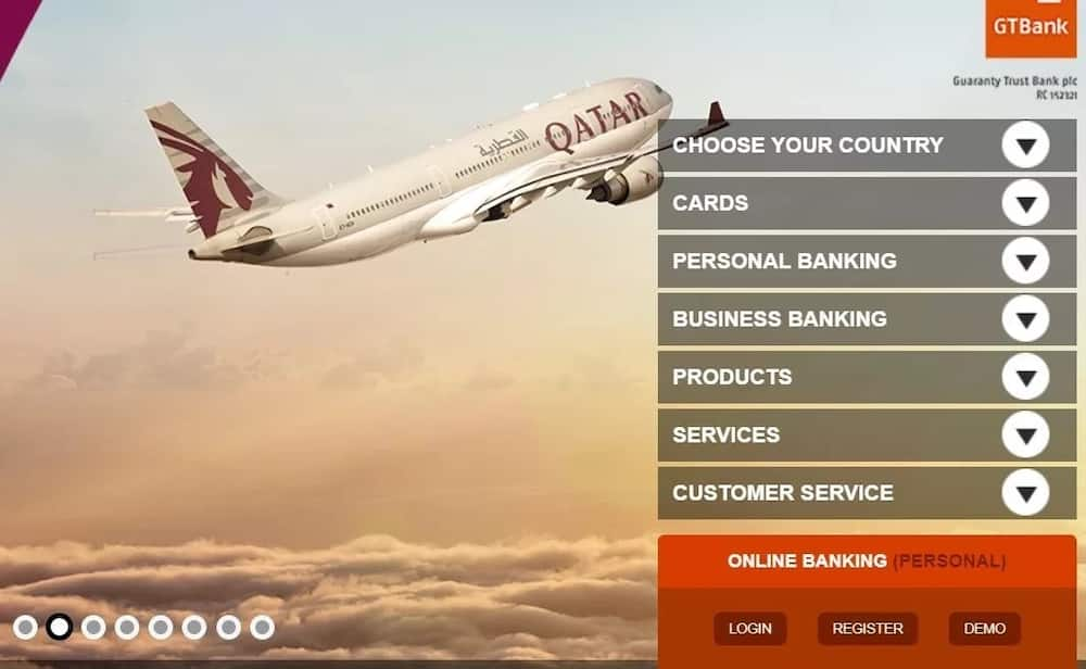 How to register for GTB online banking through the website