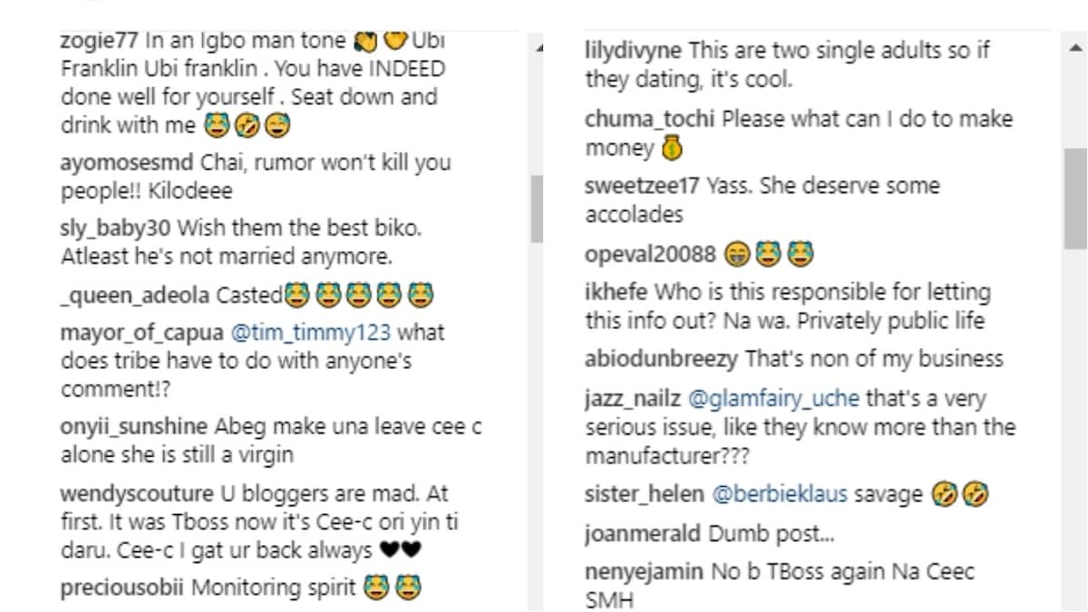 Ubi Franklin and Cee-C spark dating rumours with new photos