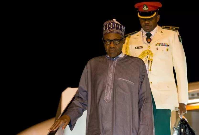PHOTOS: President Buhari Arrives Nigeria From India