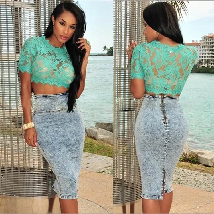 Nigerian French lace blouse