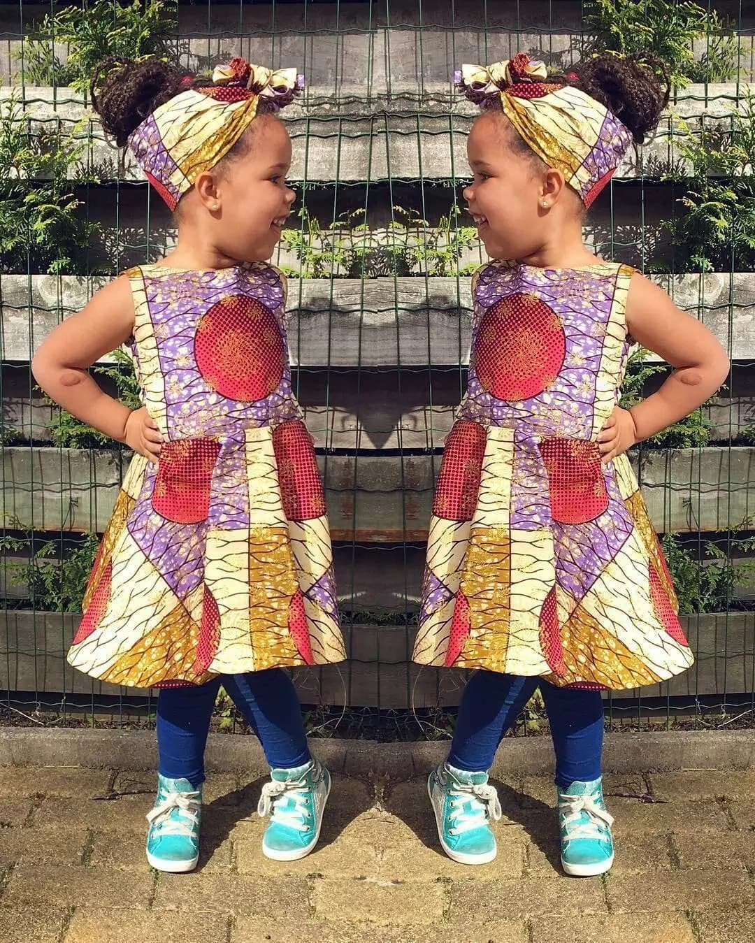 Ankara dress and trousers style