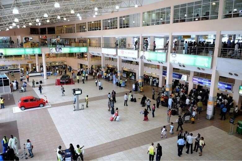 The international airport of Lagos