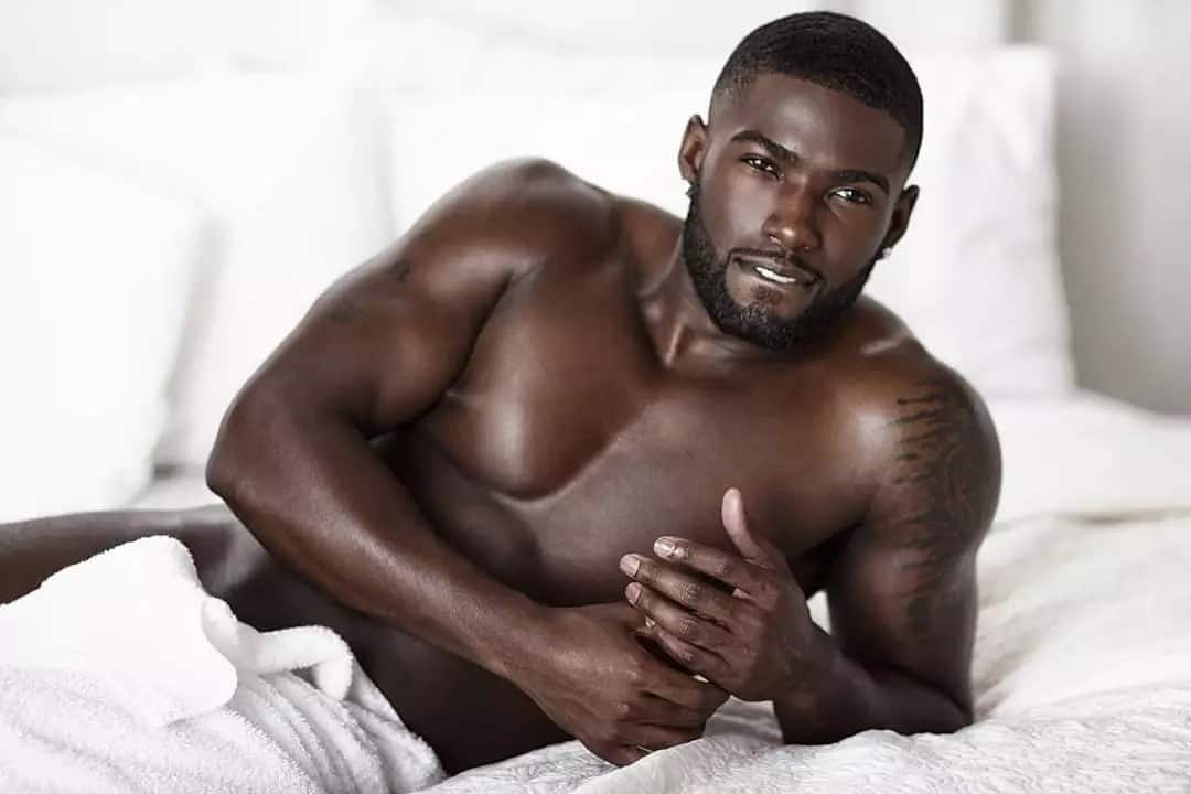 Gorgeous man in bed