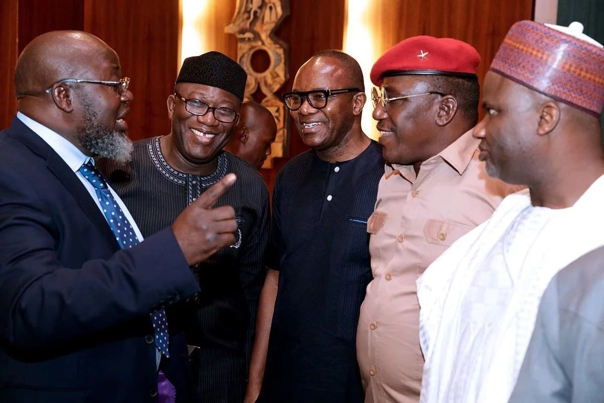 Nigerian ministers during the Federal Executive Council (FEC) meeting on Wednesday, October 18. Photo credit: Twitter Bashir Ahmad
