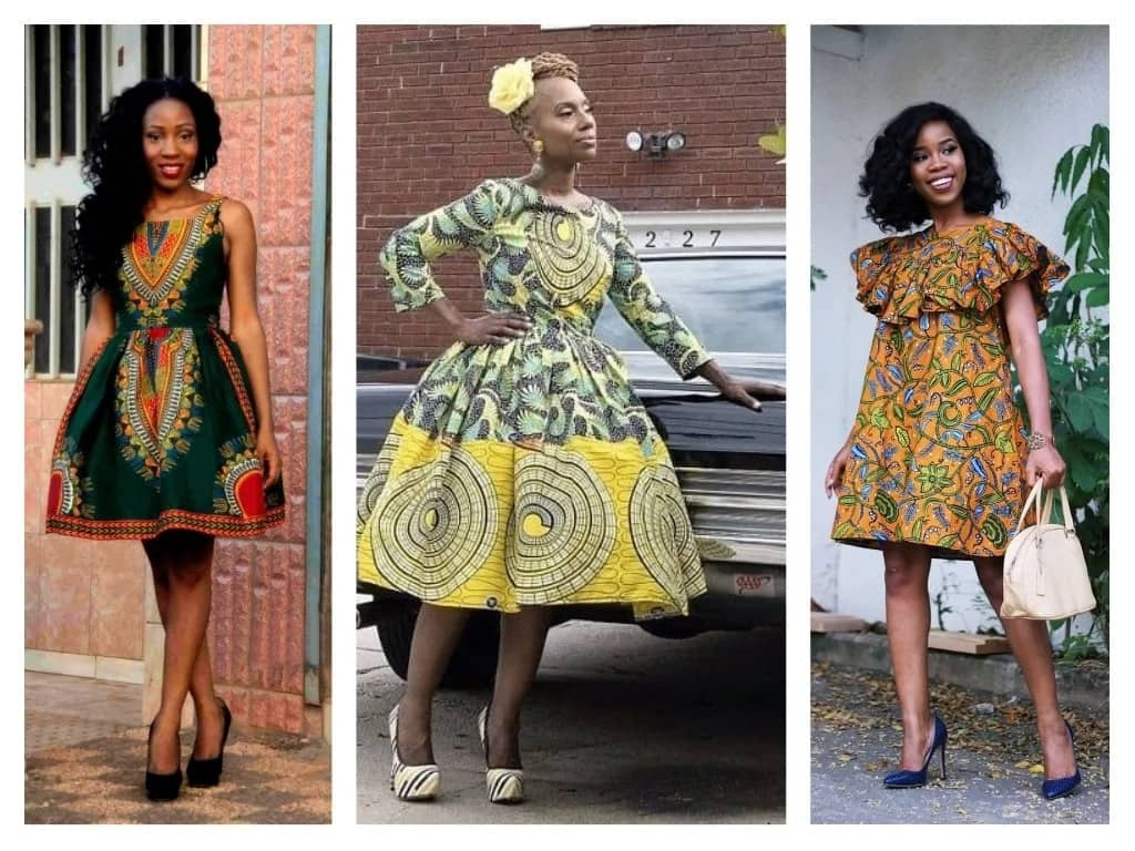 latest native short gowns for ladies