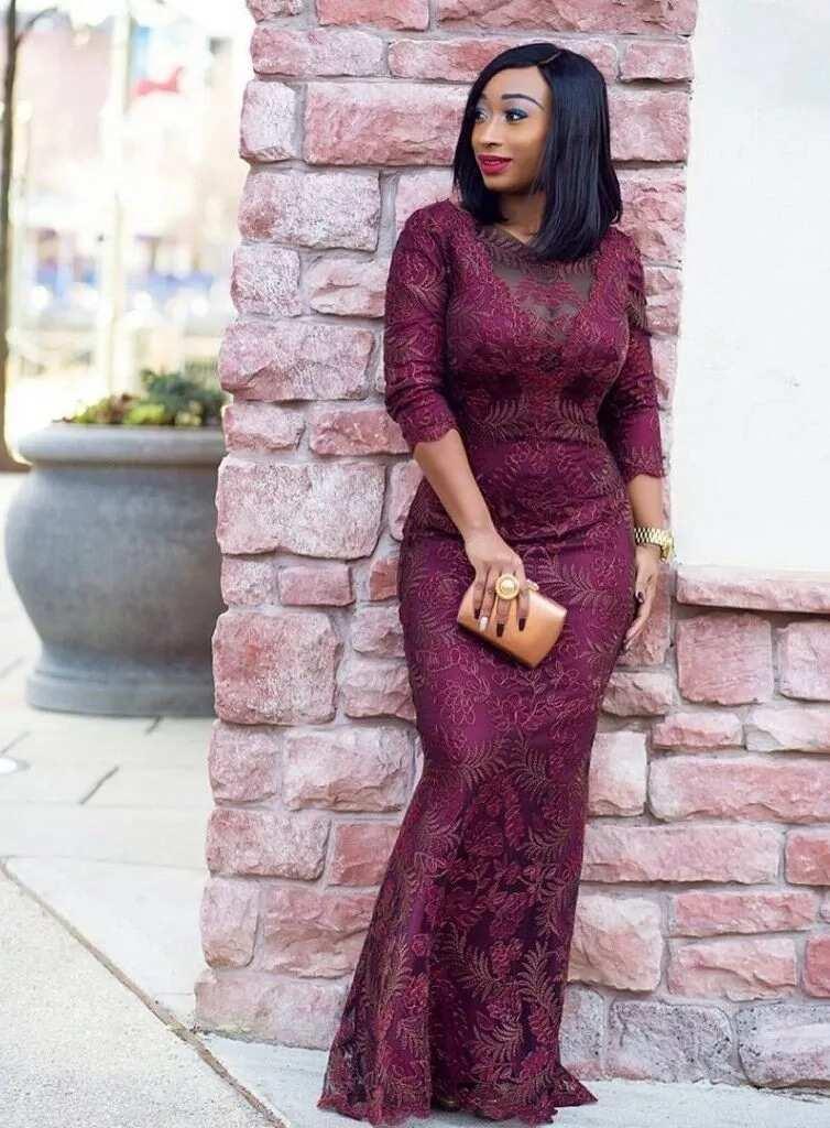 Nigerian French lace mermaid dress