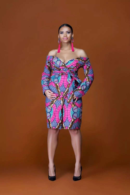 Ankara dress for pregnant ladies -1