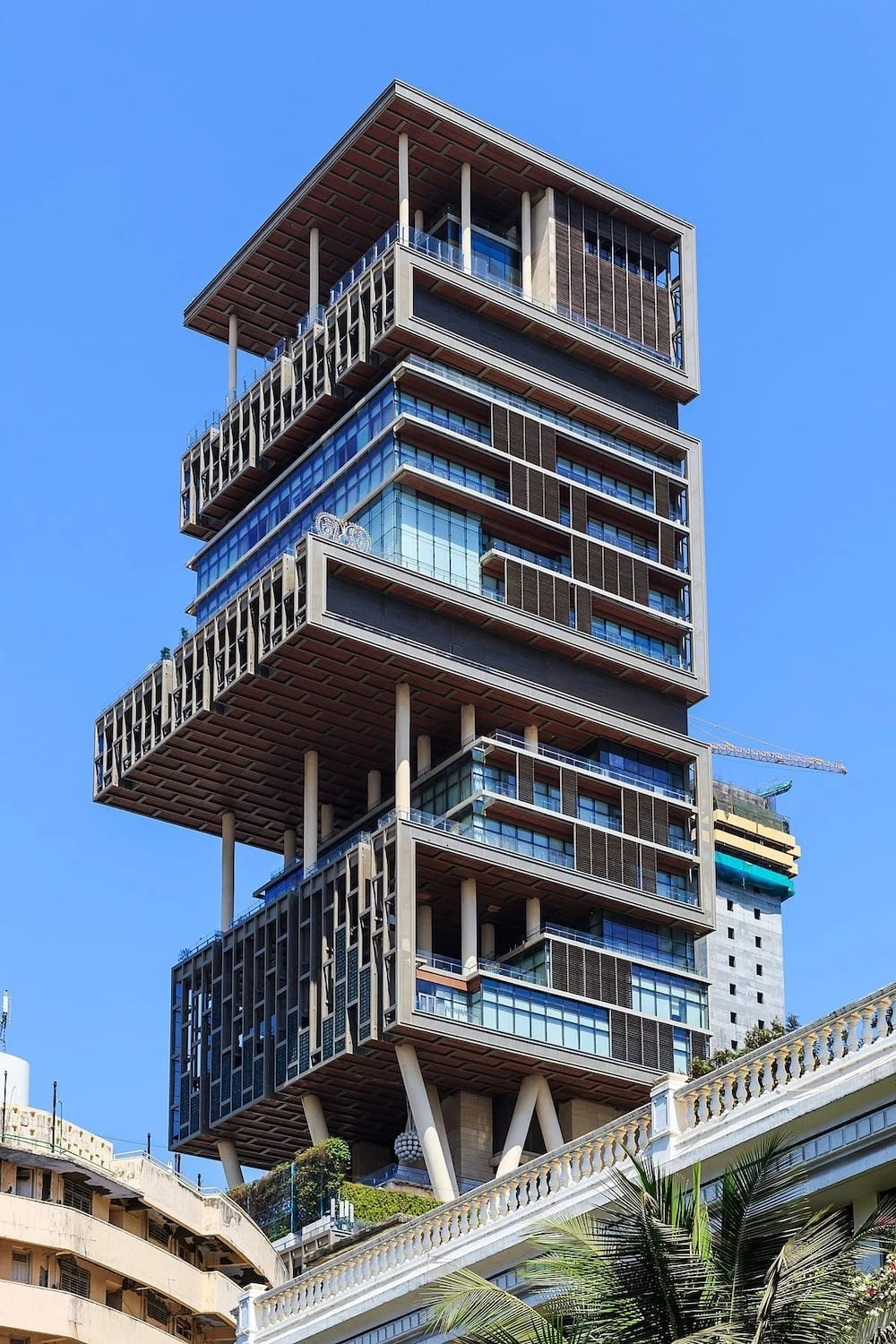 Antilia from below apart from being the most expensive house