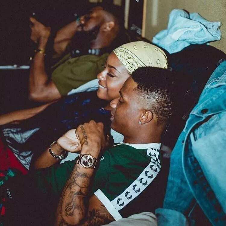 Wizkid with girl