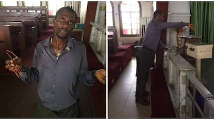 Man reportedly caught using wire to steal from tithe box in Port-Harcourt (photos)